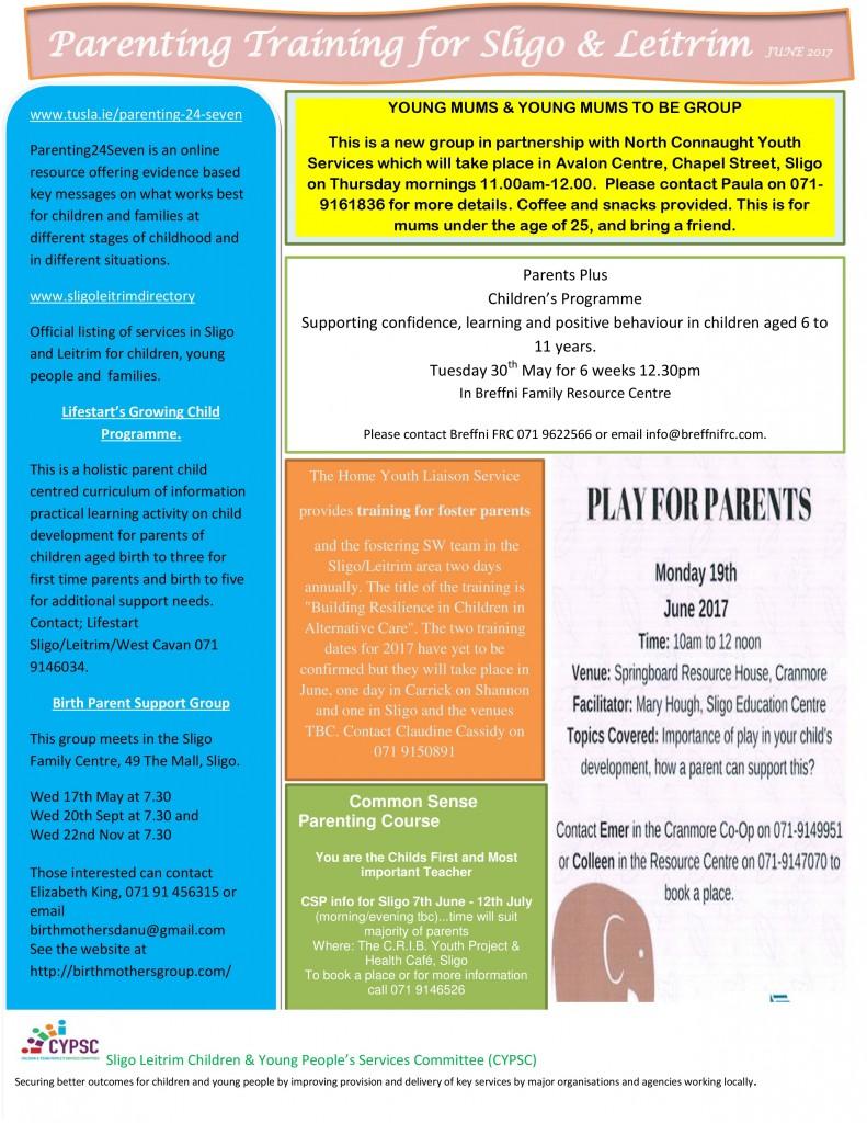 Parenting Courses Sligo Leitrim June 2017-page-0